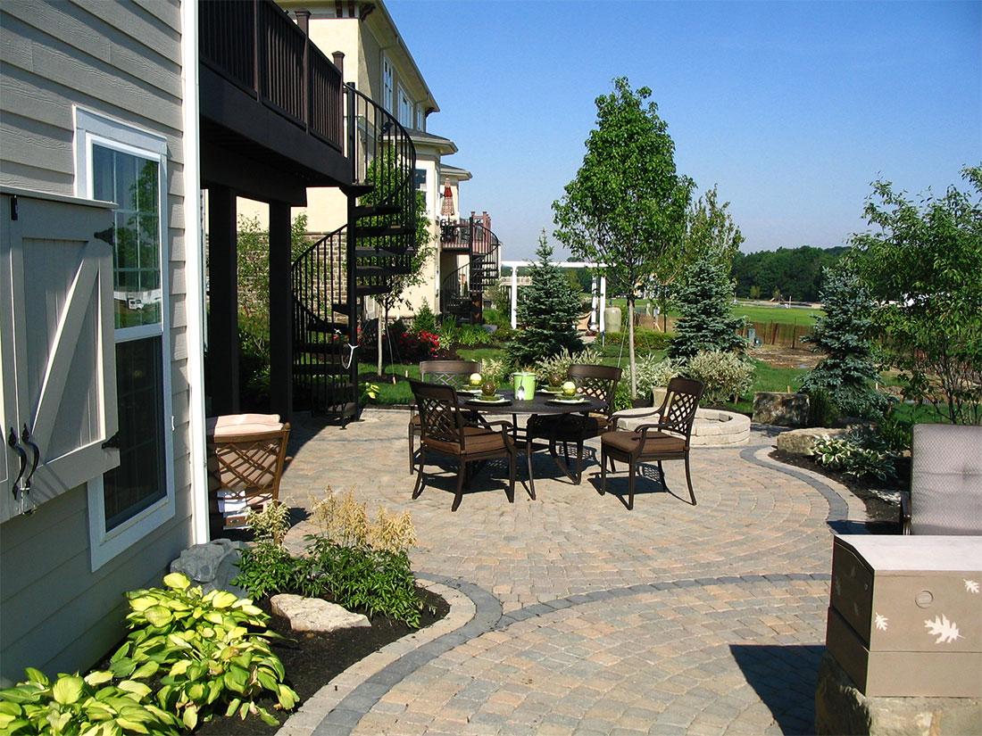 Backyard Architect Part - 39: ... Residential Landscape Architect Columbus OH Beautiful Backyard Deck ...