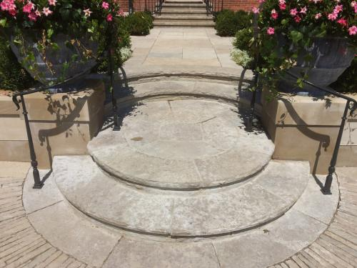 exterior steps and landscaping by landscape designer