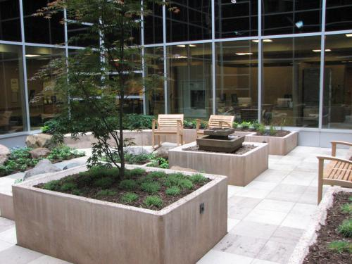 Commercial Indoor Landscaper/Design Stone and Pavement by landscape designer